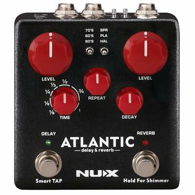 NUX Atlantic Multi Delay and Reverb Guitar Effect Pedal with Reverb effects