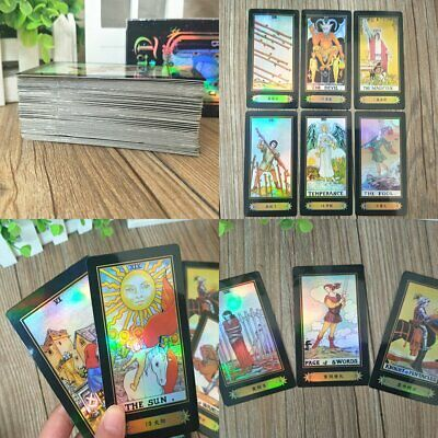 78 Cards Tarot Card Deck Vintage Colorful Box Future Telling Game Rider Waite LU