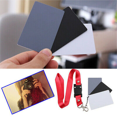 Digital Color Balance 18% Gray Card 3in1 Black Grey White For Photography Studio