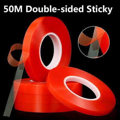 50M Double-Sided Heat Resistant Adhesive Clear Tape Acrylic Transparent Tape