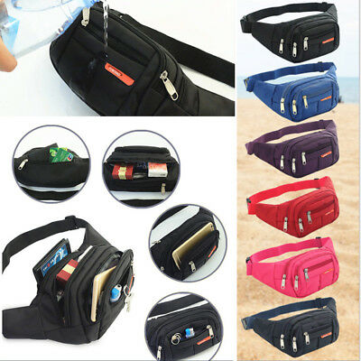 Fanny Pack Mens Womens Waist Hip Belt Bag Purse Pouch Travel Sport Bum Nylon AU