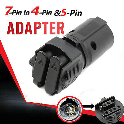 7 to 4 way flat 5 pin plug trailer light adapter connector towing for chevy  gmc