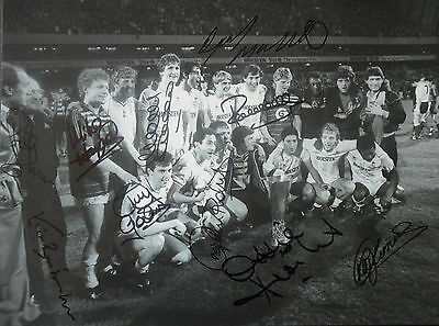 SPURS UEFA CUP 1984 In Person Signed 16x12 Photo TOTTENHAM HOTSPUR COA