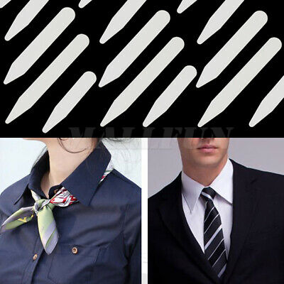200 Plastic Collar Stays Stiffeners For Mens Dress Shirt 3 Sizes 2.5 dgh