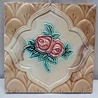 Tile Majolica Made In Japan Vintage Art Deco Ceramic Porcelain Collectibles #226