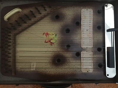Rare Antique homemade European style ZITHER from USA in case aka Mandolin Guitar