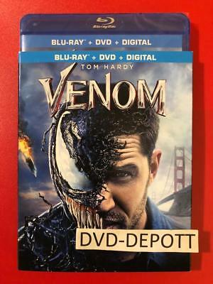 VENOM Blu Ray + DVD + Digital HD & Slipcover Brand New FAST Free Shipping