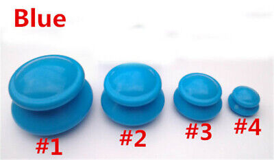 Cupping SILICONE Rubber Anti-cellulite Set Medical Vacuum Massage 4 Cups