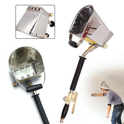 Cement Mortar Sprayer Stucco Hopper Plaster Spray Wall Plastering Tool 4 Jet USA