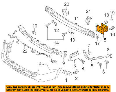 Genuine Kia 86622-4D000 Bumper Bracket Assembly