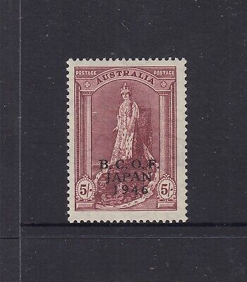 1946-49 BCOF 5/-Lake Coronation Robes, Thin Paper SG J7a, well centred MUH.