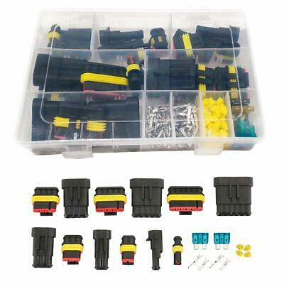 220pc Car Electrical Wire Cable Automotive Connector 1-6Pin Way Plug Waterproof