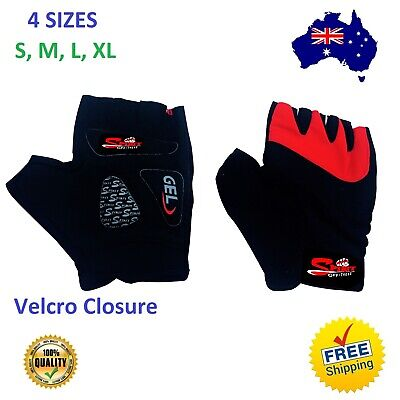 Weight Lifting Gym Gloves Bodybuilding Slim Fitness Gel Mash Leather Gloves, New
