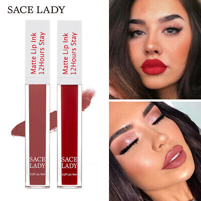 Long Lasting Makeup Waterproof Lip Gloss Matte Lip Glaze Nude Velvet Lipstick