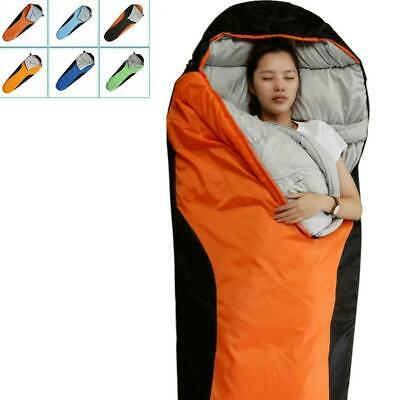 Camping Sleeping Bag - Envelope Mummy Outdoor Lightweight Portable Waterproof UK