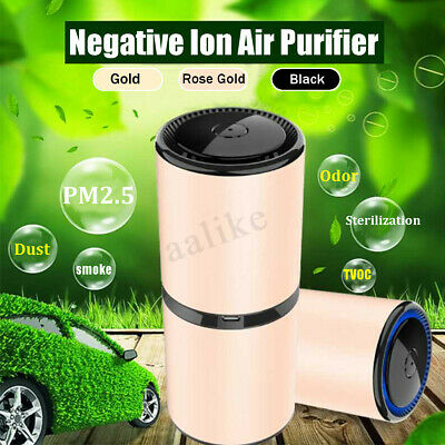 Car Interior Air Purifier Ionizer Odor Freshener USB Ionic Cleaner Smoke Remove
