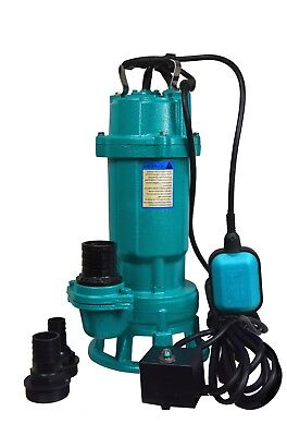 IBO Heavy Duty 1.5kW Submersible Sewage Dirty Waste Water Pump w. Shredder pond