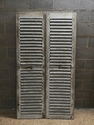 "VINTAGE WOODEN SHUTTERS FRENCH  RECLAIMED 79"" x 43 1/4"""