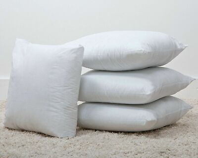 "100% Pure Cambric Cotton Cushions / Inner Pads with Microfibre Filling 20""x 20"""