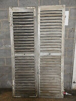 """VINTAGE WOODEN SHUTTERS FRENCH RECLAIMED 82"""" x 47 1/4"""""""