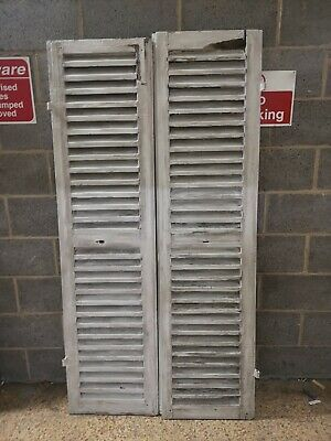 VINTAGE WOODEN SHUTTERS FRENCH RECLAIMED Mixed Pair