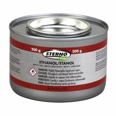 Sterno Gel Chafing Fuel Ethanol-Based - 2 Hours Burn Time - 200 g 144 pc