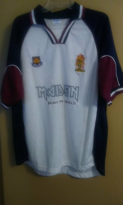 Iron Maiden Brave New World Limited Edition Soccer football Jersey Large  1999 19d68727c
