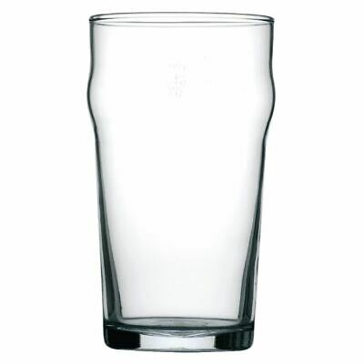 Arcoroc Nonic Nucleated Beer Glasses in Clear Made of Tough Glass 20 oz / 570 ml