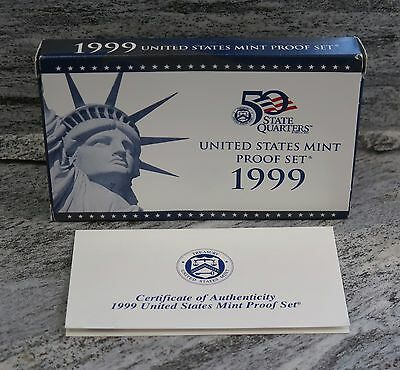 1999 S United States Us Mint 9 Coin Clad Proof Set