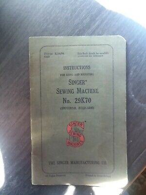 User manual singer machine