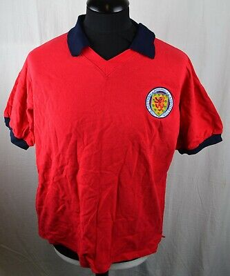 Score Draw Retro Vintage Style L/XL Scotland Away Football Shirt 1960's 60's Red