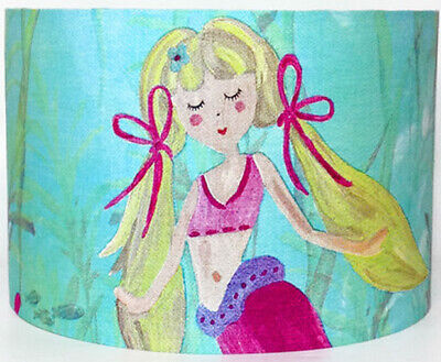 Mermaid with Blonde Hair Large Fabric Ceiling Shade