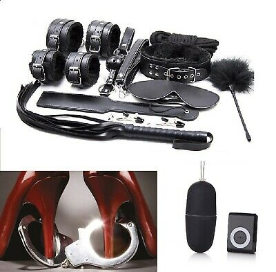 Kit Set 10 Pezzi Bondage fetish Costrittivo Sadomaso+Ovetto Vibrante wireless
