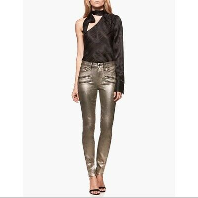 adc3bae18528 Paige X Rosie HW Collection JeansGalaxy Gold Coated Skinny Stevie NWT  359