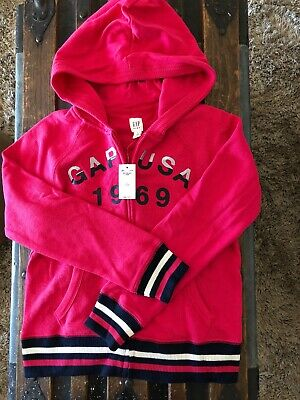 NWT GAP Kids Girls Zipped Hooded Jacket Sz.L (10)