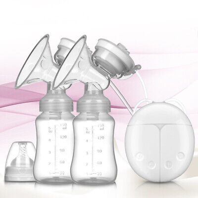 Double Electric Breast Pumps Powerful Nipple Suction USB With baby milk bottle