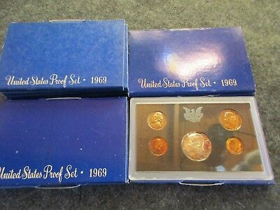 1969-S, 5-Coin Proof Set, In U.s. Mint Packaging, Half$ 40% Silver,  Day-03070