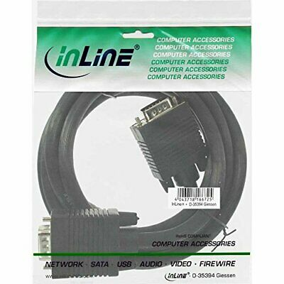 InLine 17718B S-VGA Cable 15-Pin HD Male to Male 5m Black