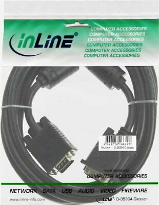 InLine 3m 125 Male to 15 Pin HD Male VGA DVI-A Cable