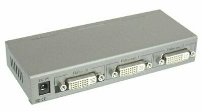 InLine DVI-D video splitter, 2 ports, with power adaptor