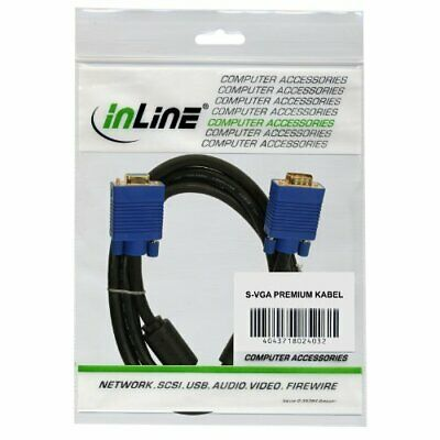 InLine S-VGA Cable Premium Monitor Cable HD15 Male - HD15 Male 20.0 m Black