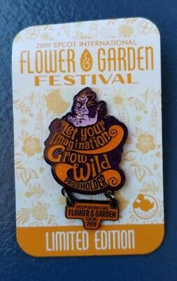 Epcot Flower and Garden Festival 2019 Annual Passholder Figment Disney Pin