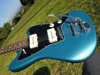 2016 Fender Limited Edition American Jazzmaster Ocean Turquoise Blue USA Bigsby