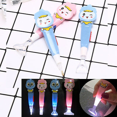 5d diamond painting tool point drill stylus pen with led light embroidery BLUS