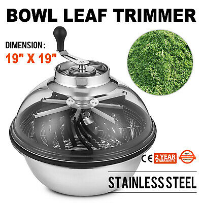 "19""  Manual  Hydroponics Trimmer Bowl Leaf Spin Pro Tumble Bud Machine Cutter"