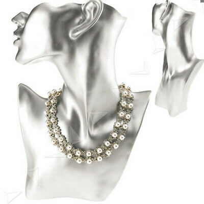 Necklace and Earring Bust Jewelry Display, Resin Material, Female Mannequin