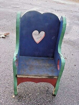 Childs Wooden Chair Homemade  Inside Or Outside