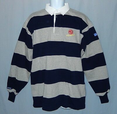 658d25b41c86 Rugby Wear Barbarian Polo Shirt Size XL Long Sleeve Navy Blue Gray Extra  Large