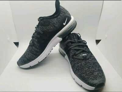 03bf01606a8 Nike Air Max Sequent 3 Running Shoes 922884 001 Black 7Y Womens 8.5 New 7  Men