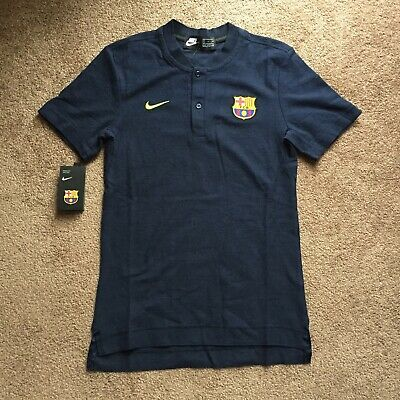 f7b33e63c2596 Nike 2018 19 FC Barcelona Grand Slam Polo Shirt Obsidian Small 892335-453  NWT